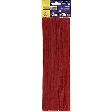 Chenille Craft Regular Stem, Red, 1200/Pack (CK-71126)