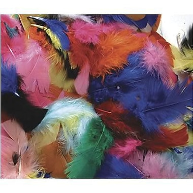 Chenille Craft Hot Colours Feathers, 1500/Pack (CK-450002)