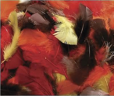 Chenille Craft® Fall Colors Feathers, 125 Pieces