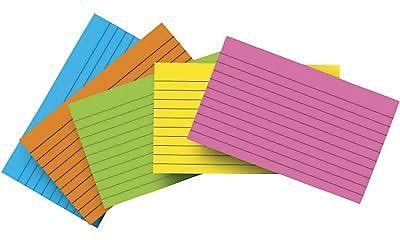 Top Notch Teacher Products® Brite Assorted Lined Index Card, 3
