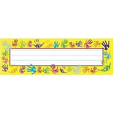 Trend Desk Toppers pre-kindergarten - 3rd Grades Name Plate, Helping Hands, 288/Pack (T-69027)