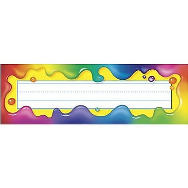 Trend Desk Toppers pre-kindergarten - 5th Grades Name Plate, Rainbow Gel, 288/Pack (T-69030)