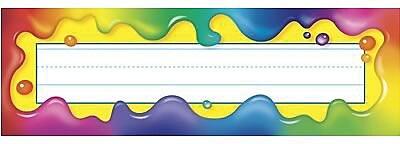 Trend® Desk Toppers® pre-kindergarten - 5th Grades Name Plate, Rainbow Gel