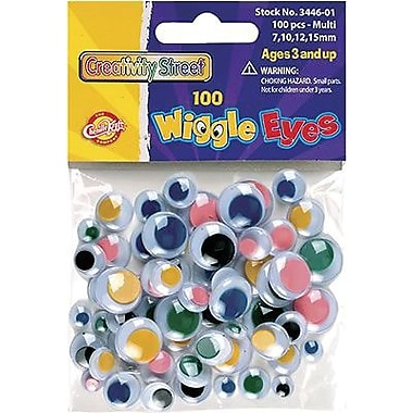 Chenille Craft Wiggle Eyes, Multi Coloured, 800/Pack (CK-344601)