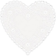 """Hygloss® Heart Paper Lace Doilies, 4"""", White (HYG91041)"""