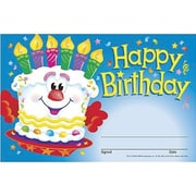 Trend Enterprises Recognition Awards, Happy Birthday (cake), 240/Pack (T-81017)