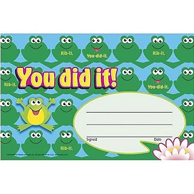 Trend Enterprises® Recognition Awards, You Did It! (Frogs)