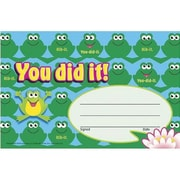 Trend Enterprises Recognition Awards, You Did It! (frogs), 180/Pack (T-81034)