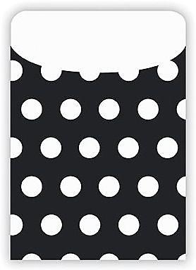 Top Notch Polka Dots Pockets, Black, Peel & Stick