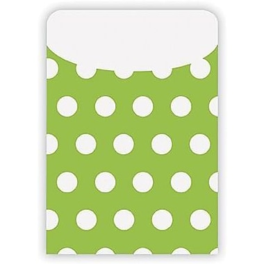 Top Notch Teacher Products® Peel and Stick Polka Dots Pocket, Green, 25/pack (TOP6034)