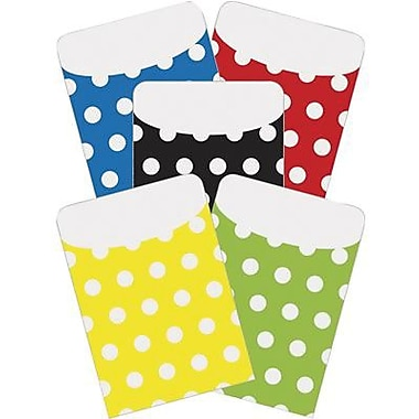 Top Notch Teacher Products Peel and Stick Polka Dots Pocket, Assorted, 125/Pack (TOP6039)
