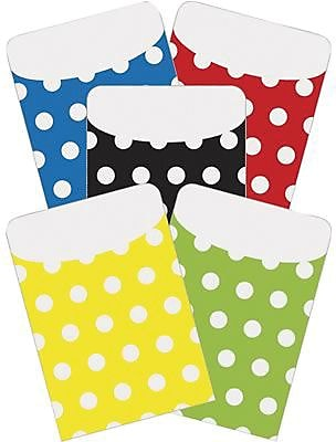 Top Notch Teacher Products® Peel and Stick Polka Dots Pocket, Assorted