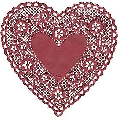 Hygloss Heart Paper Lace Doilies, 6