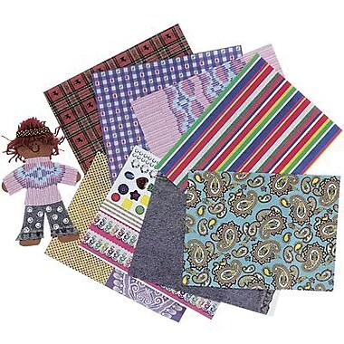 Roylco® 11in. x 8 1/2in. Fabulous Fabric Craft Paper