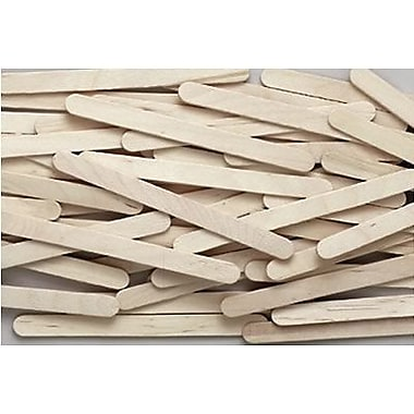 Chenille Craft Natural Wooden Craft Stick,, 3000/Pack (CK-377401)