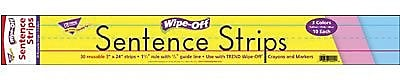 Trend Enterprises® Multi Color Wipe-Off Sentence Strip, 24