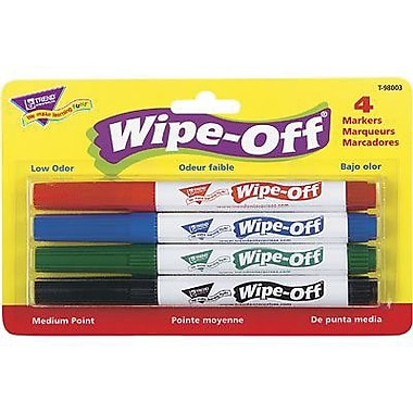 Trend Wipe-off Marker, Standard Colours, 12/Pack (T-98003)