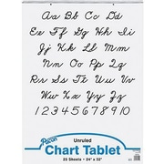 "Pacon Chart Tablets 32"" x 24"", White, 50/Pack (PAC74510)"