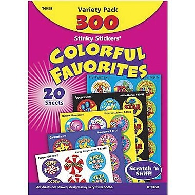 Trend Enterprises Stinky Stickers, Colourful Favorites, 600/Pack (T-6481)