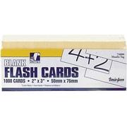 blank flash cards