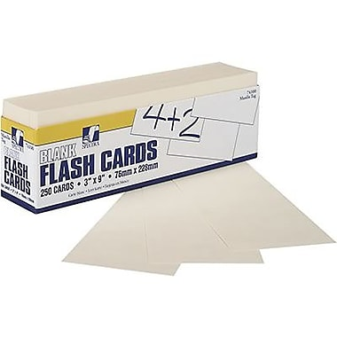 Pacon Blank Flash Card Dispenser Box, Grades pre-kindergarten - 12, Manila, 500/Pack (PAC74100)