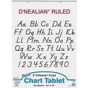 "Pacon D'Nealian Chart Tablet 32"" x 24"", White (PAC74730)"