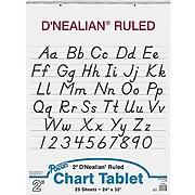 "Pacon D'Nealian Chart Tablet 32"" x 24"", White (PAC74730)"