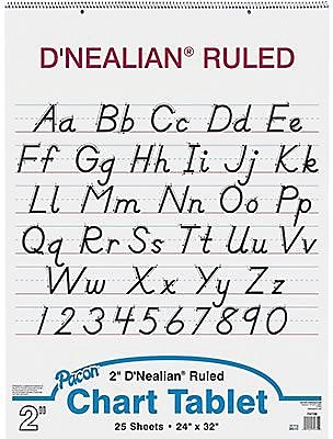 Pacon D'Nealian Chart Tablet 32