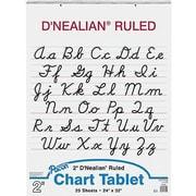 "Pacon D'Nealian Chart Tablet 32"" x 24"", White (PAC74740)"