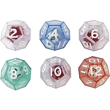 Koplow Games 12-Sided Double Dice, 6/Pack (KOP12620)