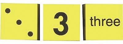 Koplow Games Spot Word Number Dice, 3/Set