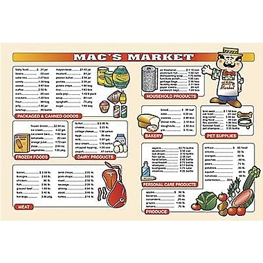Remedia® Market Math For Beginners 6th Extra Price Lists, Grades 3rd - 6th