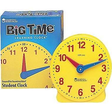 Learning Resources® Big Time Learning Student Clock, Grades Pre-school - 3rd