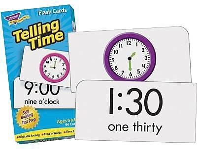 Trend Enterprises® Skill Drill Flash Cards, Telling Time