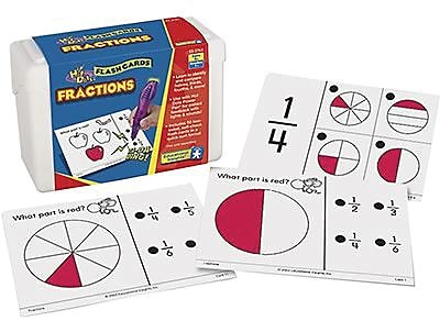 Educational Insights® Hot Dots Math Flash Cards, Fractions