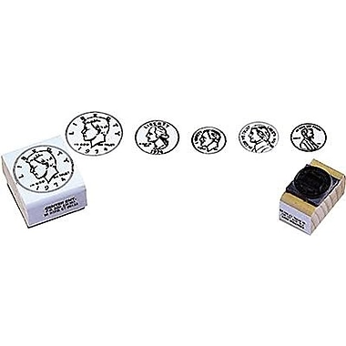 Center Enterprises® Coin Rubber Stamp Set, Heads