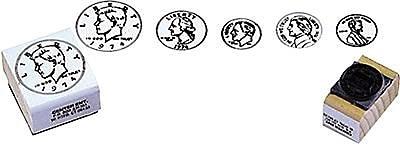 Center Enterprises® Coin Rubber Stamp Set, Heads