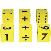 "Koplow Games Assorted Set Foam Dice Game, 2"", 6/Pack (KOP11697)"