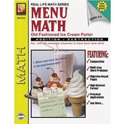 Remedia® Menu Math Old-Fashioned Ice Cream Parlor Book 1st, Addition and Subtraction, Grades 3rd-6th