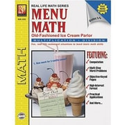 Remedia® Menu Math Old-Fashioned Ice Cream Parlor Book 2, Multiplication & Division, Grades 3rd-6th