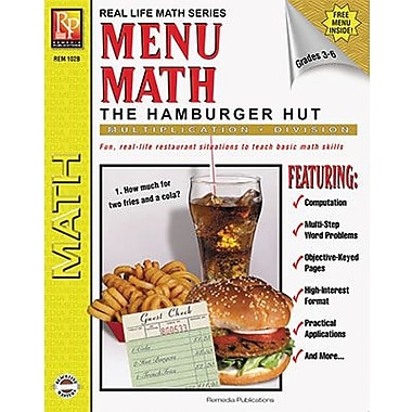 Remedia Menu Math Hamburger Hut Book 2, Multiplication And Division, Grade 3 - 6 (REM102B)