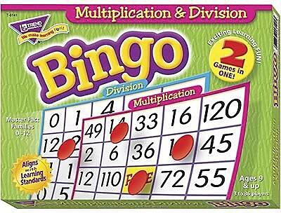 Trend Enterprises® Bingo Game, Multiplication and Division
