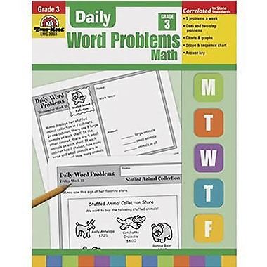 Evan-Moor Daily Word Problems Book, Grade 3 (EMC3003)