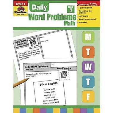 Evan-Moor® Daily Word Problems Book, Grades 4th