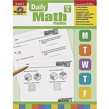 Evan-moor® Daily Math Practice Book, Grades 5th