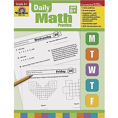 Evan-Moor® Daily Math Practice Book, Grades 6th+