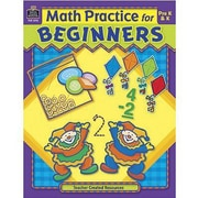Teacher Created Resources® Math Practice For Beginners Book, Grades Pre School - K