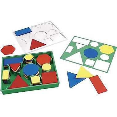 Learning Resources® Attribute Desk Block Set, Tangrams And Pentominoes