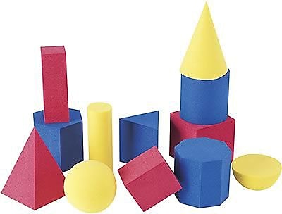 Learning Resources® Soft Foam Geometric Shapes, Set of 12