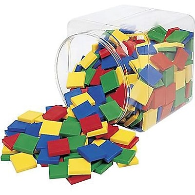 Learning Resources® Square Colour Tiles, Grades Kindergarten - 1st